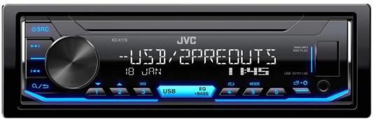 Фото - Автомагнитола JVC KD-X176 1DIN 4x50Вт автомагнитола cd jvc kd r497 1din 4x50вт