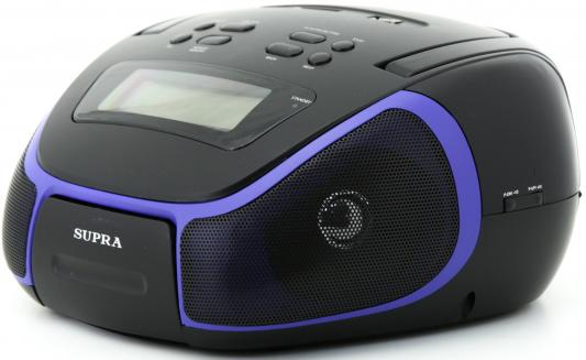 Аудиомагнитола Supra BB-23MUS черный/синий 3Вт/MP3/FM(dig)/USB/SD цена