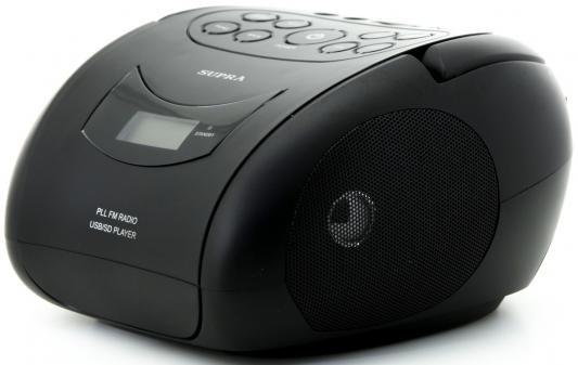 Аудиомагнитола Supra BB-24MUS черный 3Вт/MP3/FM(dig)/USB/SD supra bb 40musb