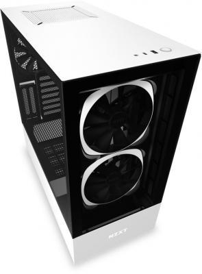 Корпус ATX NZXT H510 Elite Без БП чёрный белый (CA-H510E-W1) корпус atx miditower nzxt h500i smart ca h500w bl black blue