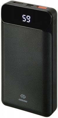 Мобильный аккумулятор Digma Power Delivery DG-20000-PL-BK Li-Pol 20000mAh 3A+3A черный 2xUSB мобильный аккумулятор hiper mpx20000 li pol 20000mah 3a 3a 2 4a серый 2xusb