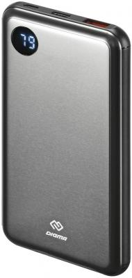 Мобильный аккумулятор Digma Power Delivery DG-10000-SML-BL Li-Pol 10000mAh 3A темно-серый 2xUSB