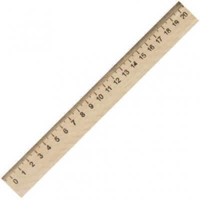 Фото - Линейка деревянная 20 см, ПИФАГОР, 210667 линейка деревянная 30 см пифагор 210669