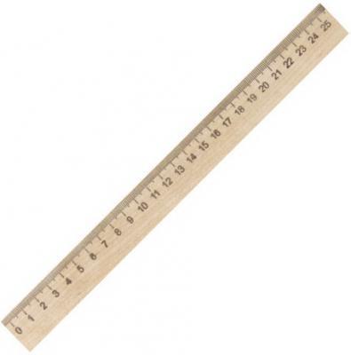 Фото - Линейка деревянная 25 см, ПИФАГОР, 210668 линейка деревянная 30 см пифагор 210669