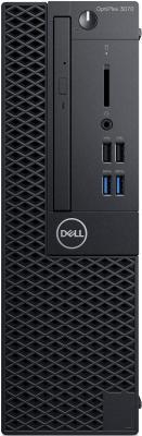 ПК Dell Optiplex 3070 SFF i3 9100 (3.6)/8Gb/SSD256Gb/UHDG 630/DVDRW/Linux Ubuntu/GbitEth/200W/клавиатура/мышь/черный