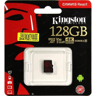 Флеш карта microSDXC 128Gb Class10 Kingston SDCR/128GBSP Canvas React w/o adapter t w o bryant the malign summit