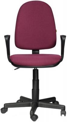 раздолье кресло офисное сатурн бордовое Кресло Престиж, регулируемая спинка, с подлокотниками, черно-бордовое