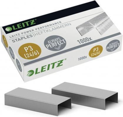 Скобы для степлера Leitz № 24/6 1000 шт 55700000
