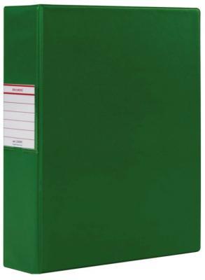 Фото - Папка на 2 кольцах BRAUBERG, картон/ПВХ, 75 мм, зеленая, до 500 листов (удвоенный срок службы), 228391 brauberg папка на 2 х кольцах a4 картон пвх 35 мм синий