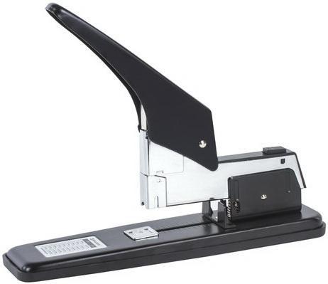 Степлер МОЩНЫЙ №24/6-23/24 металлический BRAUBERG Heavy duty, до 200 листов, черный, 227660 степлер ручной brauberg энергосберегающий мощный 24 6 23 17 easy press до 120 листов без усилий 227664