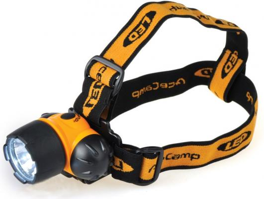 Фонарь налобный AceCamp 1018 черный/оранжевый 1Вт лам.:светодиод. AAAx3 фонарь налобный acecamp extreme оранжевый черный 1вт лам светодиод aaax3 1035