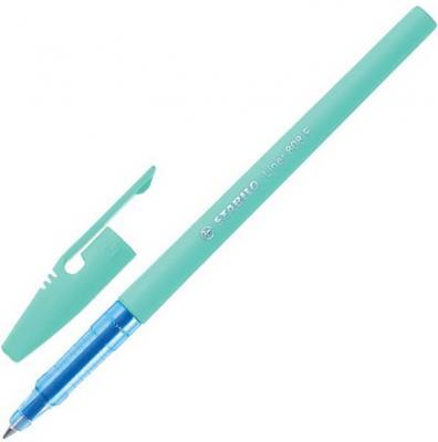 """Ручка шариковая STABILO """"Liner Pastel"""", СИНЯЯ, корпус бирюзовый, узел 0,7 мм, линия письма 0,3 808FP1041-1"""