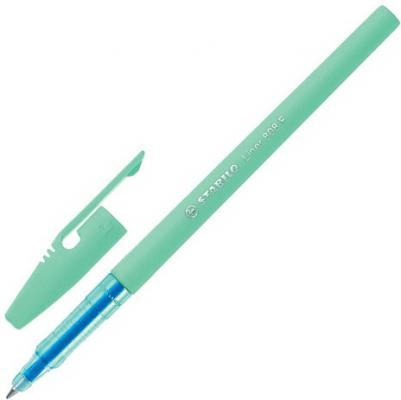 Ручка шариковая STABILO Liner Pastel, СИНЯЯ, корпус мятный, узел 0,7 мм, линия письма 0,3 мм, 808FP1041-2 ручка шариковая stabilo marathon синяя
