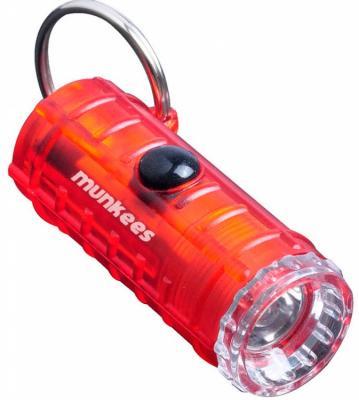 Фонарь брелок Munkees 1094 красный лам.:светодиод.x3 брелок фонарик munkees цилиндр