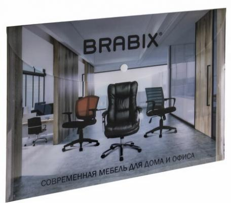 Папка-конверт с кнопкой BRABIX, А4, 160 мкм, до 100 листов, цветная печать, 228060 недорого