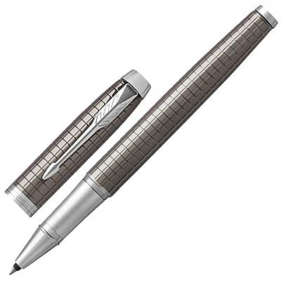 Фото - Ручка-роллер PARKER IM Premium Dark Espresso Chiselled CT, корпус кофейный лак с гравировкой, хромированные детали, черная, 1931682 канцелярия parker ручка роллер im ct