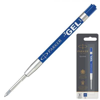 Стержень гелевый PARKER Quink Gel, металлический, 98 мм, линия письма 0,7 мм, блистер, синий, 1950346 стержень 5 ый пишущий узел parker f линия письма 0 8 мм синий 1950250