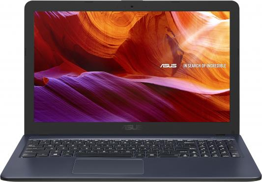 "Ноутбук 15.6"" HD Asus X543UB-GQ1168 grey (Pen 4417U/4Gb/500Gb/DVD-RW/MX110 2Gb/Endless) (90NB0IM7-M16540) системный блок asus k31cd g4400 3 3ghz 4gb 500gb intel hd dvd rw win10 клавиатура мышь 90pd01r2 m08410"