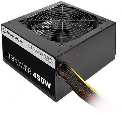 Блок питания Thermaltake Litepower 450W <450W, (20+4+4+4) pin, 2x(6+2) pin, 4xSATA, 4xMolex, FDD, 12 см, кабель питания, кабель navitoch 30 pin iphone 4 3566 желтый