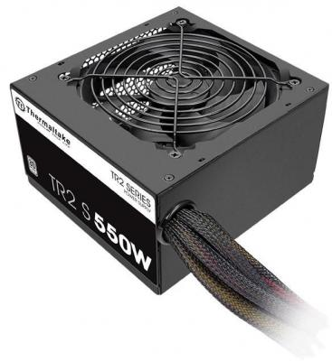 Блок питания Thermaltake TR2S 550W <550W, (20+4+4+4) pin, 2x(6+2) 5xSATA, 4xMolex, FDD, 12 см, кабель питания, 86%,