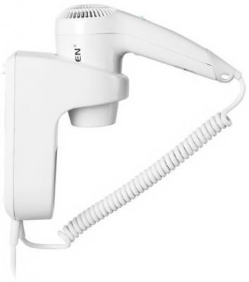 Фен для волос настенный SONNEN HD-1288, 1200 Вт, пластиковый корпус, 2 скорости, белый, 604196