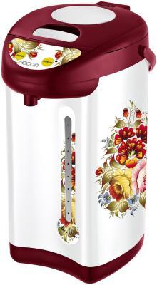 Термопот ECON ECO-400TP, 600 Вт, 4 л, 3 режима подачи воды, металл, белый с красным