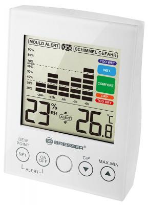 Гигрометр BRESSER Mould Alert, термометр, график изменений за 24 часа, звуковой сигнал, 73275