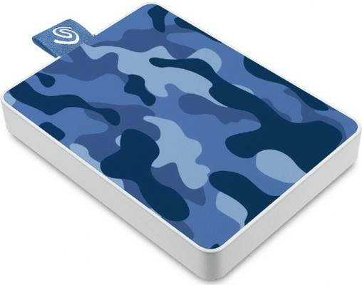 Фото - Накопитель на жестком магнитном диске Seagate Внешний твердотельный накопитель Seagate One Touch SSD Special Edition STJE500406 500ГБ 2.5 USB 3.0 Camo Blue твердотельный накопитель ssd transcend esd230c 240gb