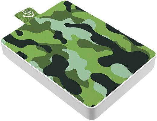 Фото - Накопитель на жестком магнитном диске Seagate Внешний твердотельный накопитель Seagate One Touch SSD Special Edition STJE500407 500ГБ 2.5 USB 3.0 Camo Green твердотельный накопитель ssd transcend esd230c 240gb