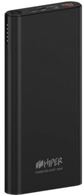 Аккумулятор HIPER Внешний аккумулятор HIPER ForcePower 100W Li-Ion 20000 mAh Aluminum QC+PD 100W 3A+2.4A+20V/5A 2xUSB 1xType-C черный аккумулятор hiper psl18000