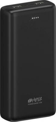 Аккумулятор HIPER Внешний аккумулятор HIPER PSL28000 Li-Pol 28000 mAh 2.4A+2.4A 2xUSB 1xType-C черный аккумулятор hiper psl18000