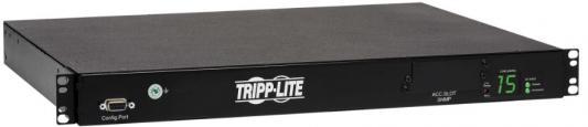 Картинка для Блок розеток Tripp Lite 2-2.4kW Single-Phase ATS/Switched PDU, 200-240V Outlets (10 C13), 2 C14 Inlets, 3.6 m Cords, 1U Rack-Mount, TAA