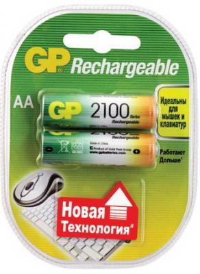 Аккумуляторы GP 210ААНСB-UC2 2100 mAh AA 2 шт аккумуляторы для приставок