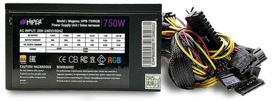 Фото - БП ATX 750 Вт HIPER HPB-750RGB блок питания hiper hpb 750rgb 750w