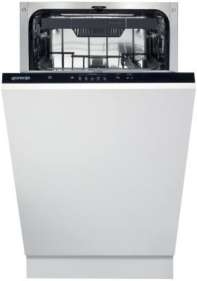 Встраиваемые посудомоечные машины GORENJE/ Узкая, 81.5x44.8x55, 10 комплектов, A, 1/2 загрузки, таймер отсрочки старта