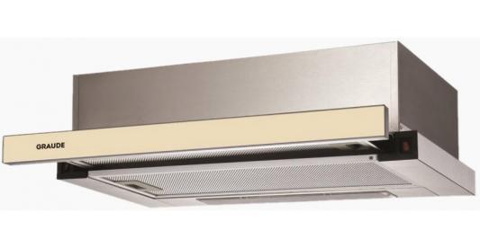 Встраиваемые вытяжки Graude/ 595 х 194 х 489 мм, Управление Classic Control,Производительность: 550 м3/ч,Уровень шума: 64 дБ,Мотор Profi Fan, 2 х 3-слойный алюминиевый фильтр,Декоративная панель из черного стекла,Материал: 430 нержавеющая сталь, декоративная панель из античного белого стекла