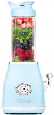 1376-2-КТ Блендер Kitfort Мощность: 250 Вт.Емкость чаши: 0,5 л.Материал корпуса: пластик,голубой. блендер kitfort кт 1359 4 зеленый
