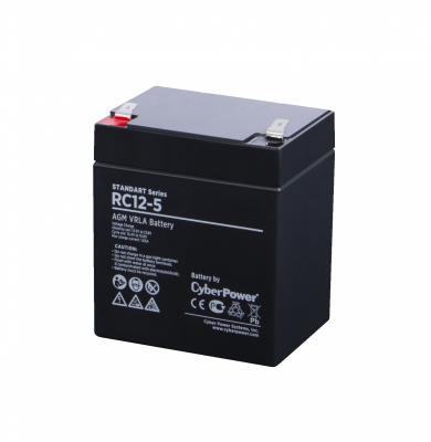 Картинка для Battery CyberPower Standart series RC 12-5 / 12V 5 Ah