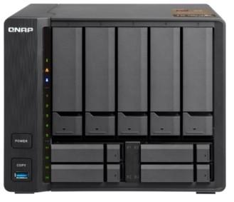 SMB QNAP TS-963X-2G 9-Bay NAS, AMD GX-420MC 4-core 2.0GHz 2 GB DDR3L (1 x 2 GB) up to 16 GB (2 x 8 GB), 5 x 3.5 and 4 x 2.5 drive slots, 1 x 10GbE 10GBASE-T 1 x GbE LAN цена