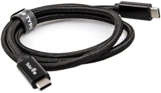 Фото - Кабель Type-C 1м VCOM Telecom TC420B круглый черный кабель type c 1м flexis fishnet круглый черный fx cab fntc bl