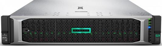 Сервер HPE DL380 Gen10, 1x 5220 Xeon-G 18C 2.2GHz, 1x32GB-R DDR4, P408i-a/2GB (RAID 1+0/5/5+0/6/6+0/1+0 ADM) noHDD (8/24+6 SFF 2.5 HP) 1x800W (up2), 2x 10/25GbE SFP28 FLR, noDVD, iLO5, Rack2U, 3-3-3