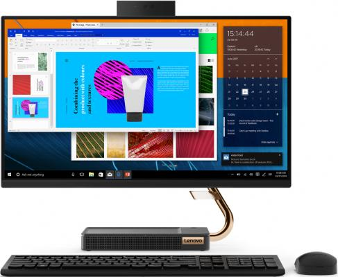 Моноблок Lenovo IdeaCentre A540-24ICB 23.8 Full HD i3 9100T (3.1)/4Gb/1Tb 5.4k/UHDG 630/CR/noOS/GbitEth/WiFi/BT/90W/клавиатура/мышь/Cam/черный 1920x1080 моноблок lenovo ideacentre a340 22icb 21 5 full hd i5 8400t 1 7 4gb 1tb 5 4k uhdg 630 dvdrw cr windows 10 home single language gbiteth wifi bt 90w