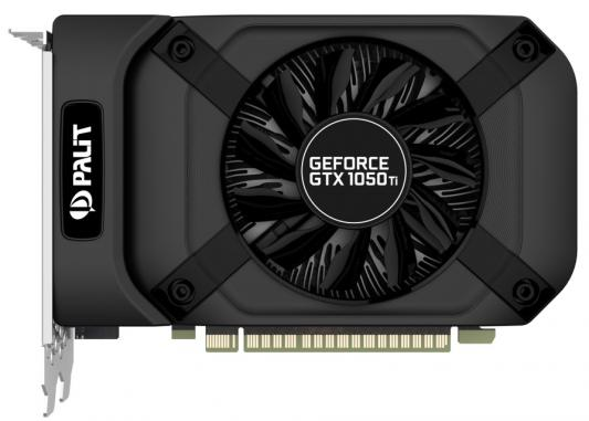 Видеокарта Palit PCI-E PA-GTX1050Ti StormX 4G nVidia GeForce GTX 1050TI 4096Mb 128bit GDDR5 1290/7000 DVIx1/HDMIx1/DPx1/HDCP Ret видеокарта palit geforce gtx 1050 ti 4096mb pa gtx1050ti dual 4g dvi d hdmi dp ret
