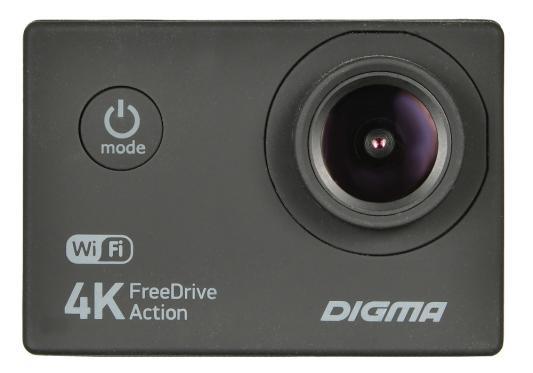 Видеорегистратор Digma FreeDrive Action 4K WiFi черный 8Mpix 2160x3840 2160p 140гр.