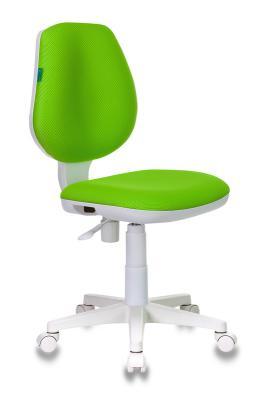 Кресло детское Бюрократ CH-W213/TW-18 салатовый TW-18 (пластик белый) кресло руководителя бюрократ ch 868axsn white белый