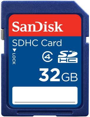 Карта памяти SDHC 32Gb SanDisk Class4 карта памяти sony sony 16g tf micro sdhc class4