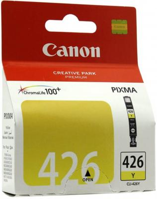 Картридж Canon CLI-426 Y для PIXMA iP4840/MG5140/5240/6140/8140 желтый (4559B001) canon cli 426 m 4558b001