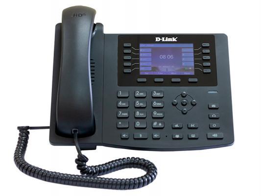 IP - телефон D-Link DPH-400SE/F5B IP-телефон с большим экраном и разъемом для дополнительного модуля расширения клавиш (1 порт LAN, 1 порт WAN и подд voip телефон d link dph 400se черный dph 400se f