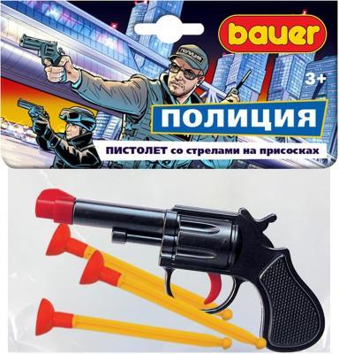 ПОЛИЦЕЙСКИЙ ПИСТОЛЕТ СО СТРЕЛАМИ НА ПРИСОСКАХ в кор.24шт пистолет bauer спецагент в коробке с тремя стрелами