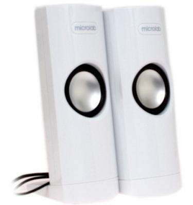 Колонки Microlab B18 белые (4,8W RMS), выход на наушники .USB